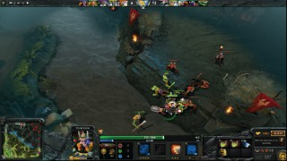DOTA 2 Radiant Fighting Dire